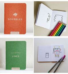 Doodle Art Books For Kids!  You could easily make your own with a small journal and an imagination!