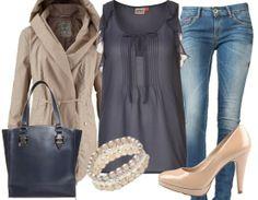 Freizeitoutfit ♥ Hier kaufen: http://stylefru.it/s26527 #pumps #bluse #parka #stylefruits