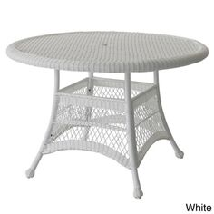 Round Resin Wicker Dining Table - Overstock™ Shopping - Great Deals on Jeco Dining Tables