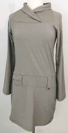 Lole Women's Long Sleeve Tunic Dress With Cowl Neck M Green #Lole #Tunic #Casual