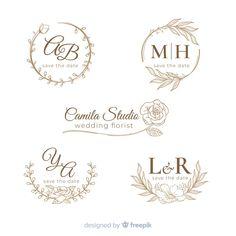 Hand drawn wedding logo collectio Free V. Wedding Logo Design, Wedding Logos, Monogram Wedding, Wedding Humor, Wedding Designs, Wedding Cards, Wedding Invitations, Wedding Quotes, Wedding Wishes