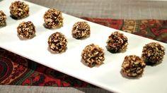 Maple Pecan Bourbon Balls - Michael Symon - The Chew The Chew Recipes, Candy Recipes, Cookie Recipes, Dessert Recipes, Cooking With Bourbon, Bourbon Balls, Cookie Brownie Bars, Maple Pecan, Balls Recipe