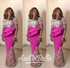 Hottest Aso Ebi Styles For The Lagos Owambe Rockers.Hottest Aso Ebi Styles For The Lagos Owambe Rockers African Lace Styles, African Lace Dresses, Latest African Fashion Dresses, African Dresses For Women, African Attire, African Wear, African Outfits, African Women, African Inspired Fashion
