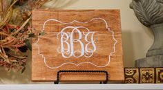 Monogram wood sign. Monogram wood plaque. Monogram by Bridges2You