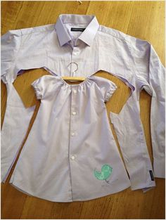 Men's Shirt Can be Refashioned into Your Little Girl's Dress