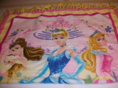 Just For Little Girls! No Sew Blankets, Comfy Blankets, Little Girls, Aurora Sleeping Beauty, Disney Princess, Sewing, Disney Characters, Painting, Art