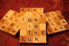 Scrabble Coasters with Recycled Wood Scrabble by COOLBOYCREATIONS, $25.99