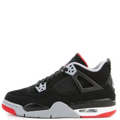225a015fabd3fb (gs) air jordan 4 retro black fire red-cement grey-summit white