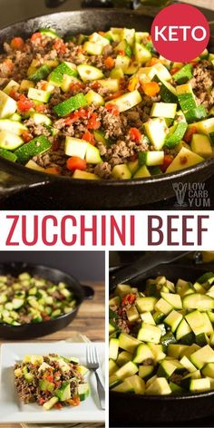 This Mexican Zucchini Beef Skillet is sure to become one of your favorite keto one pot meals! This easy low carb ground beef recipe is a simple ketogenic dinner idea. keto dinner Mexican Zucchini and Beef Skillet Ketogenic Recipes, Diet Recipes, Healthy Recipes, No Carb Dinner Recipes, Breakfast Recipes, Ketogenic Diet, Zucchini Dinner Recipes, Recipies, Low Carb Dinner Meals