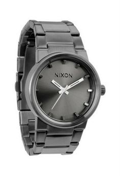 NIXON WOMENS GUNMETAL BLACK WATCH The Nixon Cannon gunmetal slate black watch is a contemporary classic. Pair this brushed charcoal watch with a chic sheepskin or Little Black Dress for the perfect completed outfit. Best Watches For Men, Lifestyle Clothing, Swag Style, Stainless Steel Case, Cannon, Michael Kors Watch, Stuff To Buy, Accessories, Nixon Watches