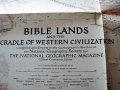 Vintage 1946 Bible Lands and the Cradle of Western Civilization Map by…