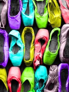 bright ballet shoes