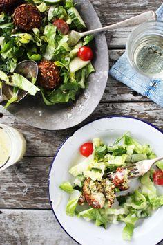 Falafel Salad | The Flourishing Foodie