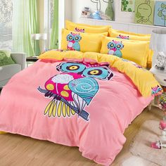 Best price on Owl Pink Bedding Set Twin Queen Size Yellow Pillowcase    Price: $ 71.80  & FREE Shipping    Your lovely product at one click away:   http://mrowlie.com/owl-pink-bedding-set-twin-queen-size-yellow-pillowcase/    #owl #owlnecklaces #owljewelry #owlwallstickers #owlstickers #owltoys #toys #owlcostumes #owlphone #phonecase #womanclothing #mensclothing #earrings #owlwatches #mrowlie #owlporcelain