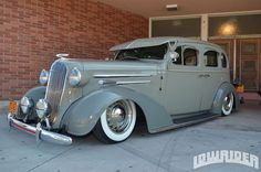 1936 Chevrolet Master Deluxe Sport Sedan Driver Side Front View