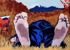 "EvaSchlitzer ""Ready for Groznjan"", 80 x 100, Acryl auf Leinen, 2015"