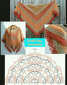 Exceptional Stitches Make a Crochet Hat Ideas. Extraordinary Stitches Make a Crochet Hat Ideas. Crochet Shawl Diagram, Crochet Cowl Free Pattern, Crochet Poncho Patterns, Crochet Shawls And Wraps, Shawl Patterns, Crochet Chart, Crochet Scarves, Crochet Clothes, Knitting Patterns