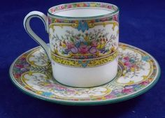 Wedgwood ST AUSTELL Demitasse Cup and Saucer Set GREAT CONDITION W1989 in Pottery & Glass, Pottery & China, China & Dinnerware, Wedgwood | eBay