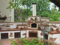 Pompeii DIY Brick Oven with Stucco and Brick