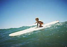 """""""Look ma, no hands!"""" Adorable Child Surf Prodigies"""