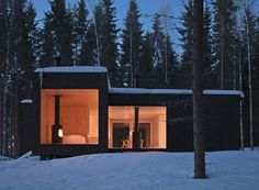 Four-cornered Villa, Virrat FInland: Avanto Architects.  I can just picture myself all curled up by that fireplace getting drunk.