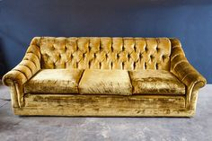 Beautiful There Is Nothing I Love More Than A Gold Velvet Sofa. This Beautiful Sofa,  With Itu0027s Tufted Back, Sweet Soft Gold Velvet, Is Essential For Any.