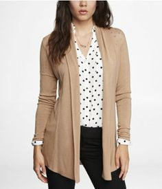 CURRENT WARDROBE - I have this cardigan in beige (shown), black, and a deep berry color. It's alright. A bit long on me to work with most outfits. Makes me feel frumpy.