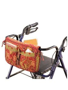Wheelchair & Walker Carryall & Carrier Bag Sewing Pattern from www.AnniesCatalog.com.