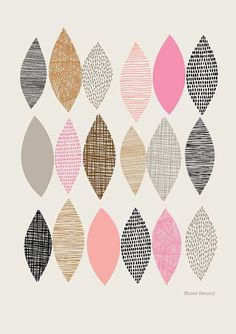 Spring Sampler No1 Open edition giclee print by EloiseRenouf, $25.00