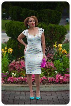 Review: Vogue 8612 | The Lip Print Neoprene Sheath Dress!
