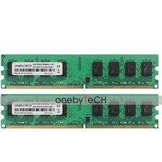 4GB Kit 2x2GB PC2-6400 DDR2-800 240PIN Memory For Dell Optiplex 210L 320 330 360