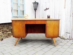 50er Jahre Schreibtisch MID CENTURY von Gerne Wieder auf DaWanda.com