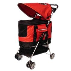 New Red Ultimate 4 In 1 Pet Stroller/Carrier/CarSeat ** Check out this great image  : Dog strollers