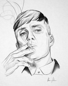 Explore collection of Peaky Blinders Sketch Portrait Sketches, Art Drawings Sketches Simple, Pencil Art Drawings, Portrait Art, Easy Drawings, Peaky Blinders Poster, Peaky Blinders Wallpaper, Peaky Blinders Tommy Shelby, Art Painting Gallery