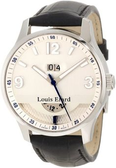 Simple elegance from Louis Erard Louis Erard, Black Leather Watch, Its A Mans World, Well Dressed Men, Beautiful Watches, Watches For Men, Wrist Watches, Men's Watches, Simple Elegance