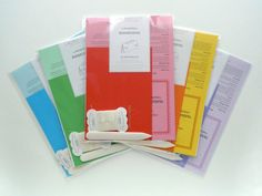 DIY Introduction to Bookbinding Kit by Supabinda These introductory kits come in an array of colors and provide beginners with basic binding tools, knowledge and instructions, all of which are then cleverly bound as a nifty little keepsake. There is also a cheap PDF version of this DIY kit available.