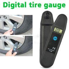 디지털 LCD 디스플레이 정확도 휠 타이어 공기 압력 게이지 타이어 테스터 차량 오토바이 자동차 5-150 PSI/인민군/바/KG/CM2 감지기