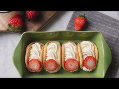 딸기 크림치즈 오믈렛빵 만들기: Strawberry Cream Cheese Omelet Bread [우미스베이킹:그녀의베이킹] - YouTube
