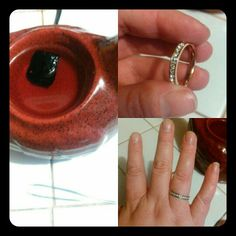 Jewelry In Candles Here is my Reveal from my Rose Zinfandel Tart. My Rose gold Infinity ring. Rose Zinfandel Scent is 20% off the whole month of January.