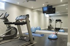 We need to re-do the exercise room just like this!!