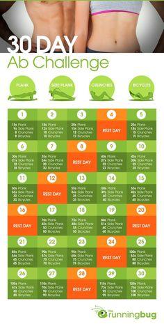 30 day ab challenge. runningbug.co.uk