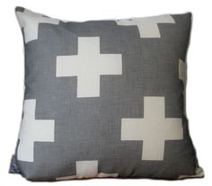 White plus cushion  indigo designs