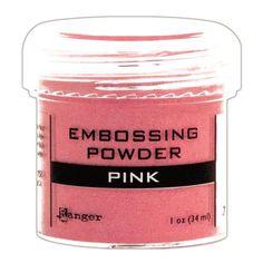 Ellen Hutson, LLC features Ranger Embossing Powder, Pink.