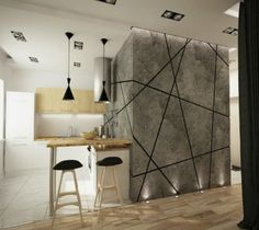 The new trend in contemporary decor is design. These are over twenty five of the newest geometric wood designs for decor. Contemporary Home Decor, Modern Interior, Interior Design, Compound Wall Design, Wood Design, Design Art, Wooden Diy, Apartment Design, Cheap Home Decor