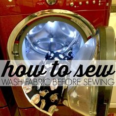 How to Sew: Wash Fabric Before Sewing   AllFreeSewing.com