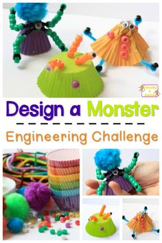 Engineering Activity: Build a Monster Craft Bring engineering skills to life with this fun engineering activity where kids build a monster craft for Halloween. Engineering has never been so fun!Bring It Bring It may refer to: Halloween Science, Halloween Crafts, Spooky Halloween, Halloween Camping, Halloween Ideas, Halloween Week, Preschool Halloween, Halloween Tricks, Halloween Wreaths