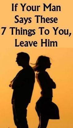 """IF YOUR MAN SAYS THESE 7 THINGS TO YOU, LEAVE HIM! A lot of people say that """"actions speak louder than words"""" in relationships. And that might be true to some extent. But you shouldn't make the mistake of thinking that words don't matter at all. Bodybuilding, Endocannabinoid System, Actions Speak Louder Than Words, Thinking Day, Yoga Quotes, Your Man, Relationship Tips, Marriage Tips, Healthy Relationships"""