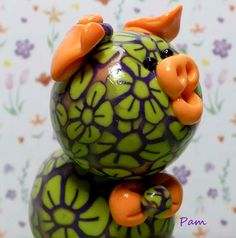 Pam Polymer Clay Piglet by TheWorldOfMerryBerry on Etsy, $10.00