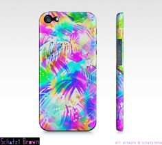 PARADISE  NEON Tropical Phone Case  iphone 5/ 5S / by SchatziBrown, $23.00 #tropical #neon