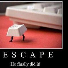 Run Escape....